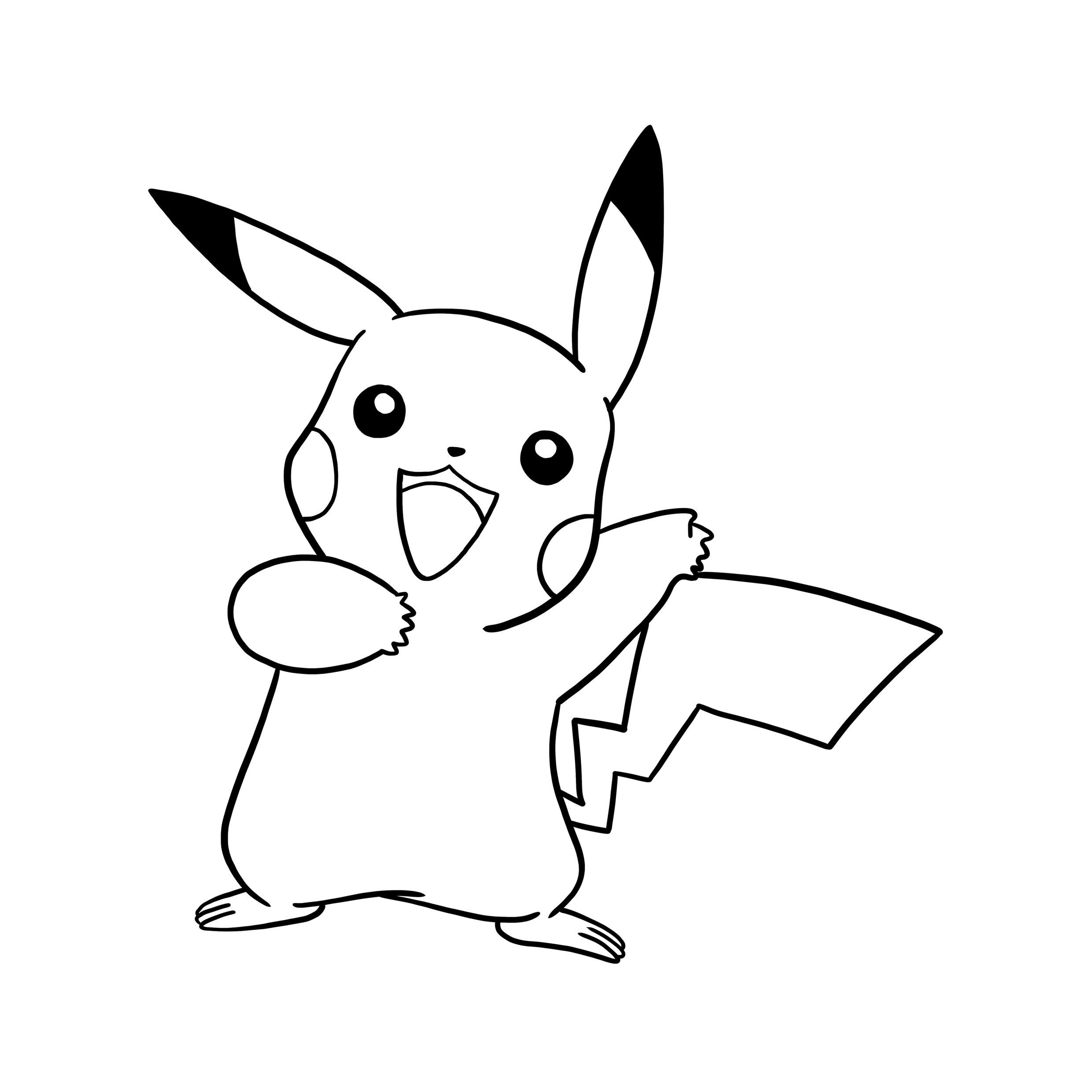 pikachu drawing coloring pages pikachu easy drawing free download on clipartmag drawing pages coloring pikachu