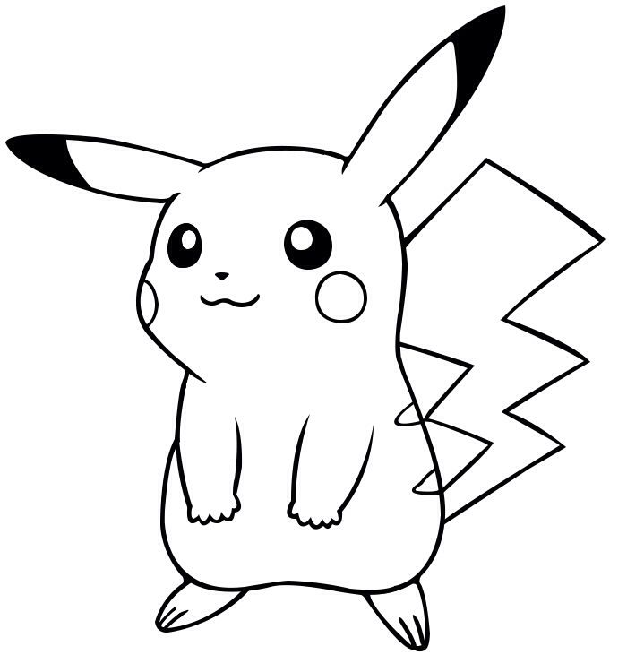pikachu drawing coloring pages pokemon drawing images free download on clipartmag pikachu drawing coloring pages