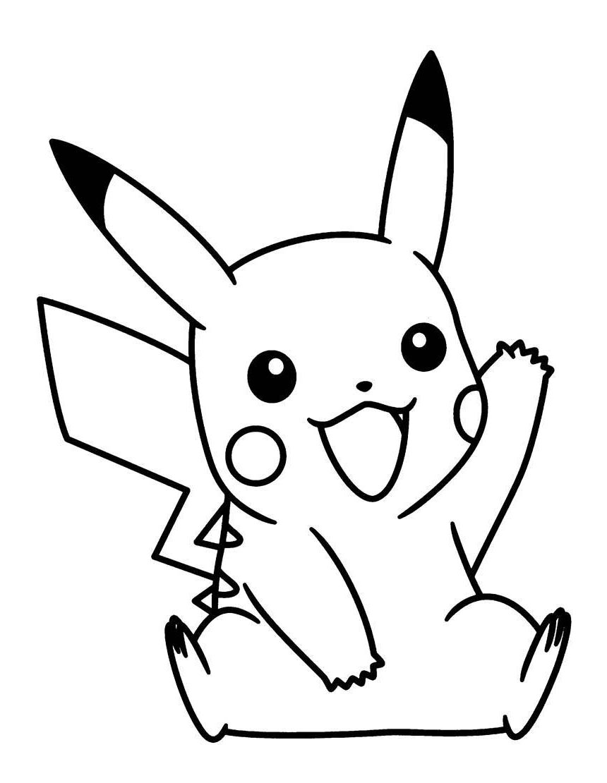 pikachu drawing coloring pages pokemon pikachu coloring pages printable free pokemon drawing coloring pages pikachu