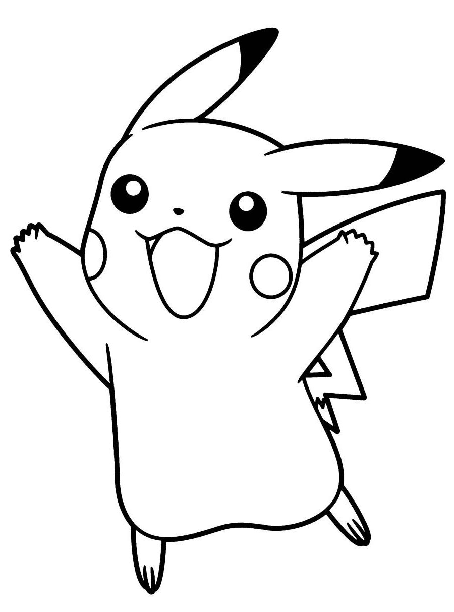 pikachu drawing coloring pages pokemon pikachu drawing at getdrawings free download pikachu coloring drawing pages