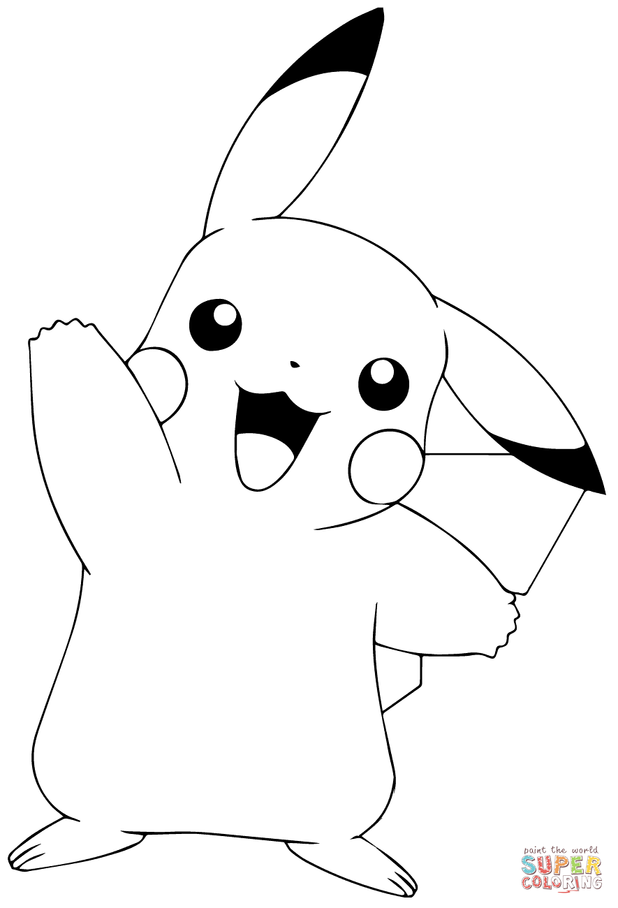 pikachu images for coloring cute pikachu coloring pages at getdrawings free download pikachu images coloring for