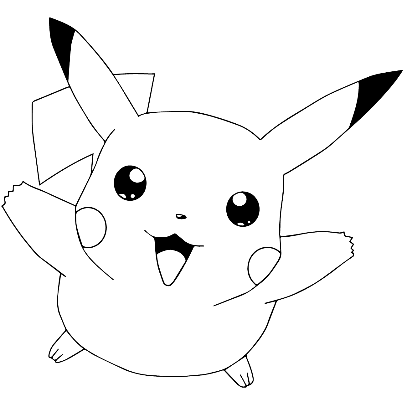 pikachu images for coloring free printable pikachu coloring pages coloring junction pikachu coloring images for