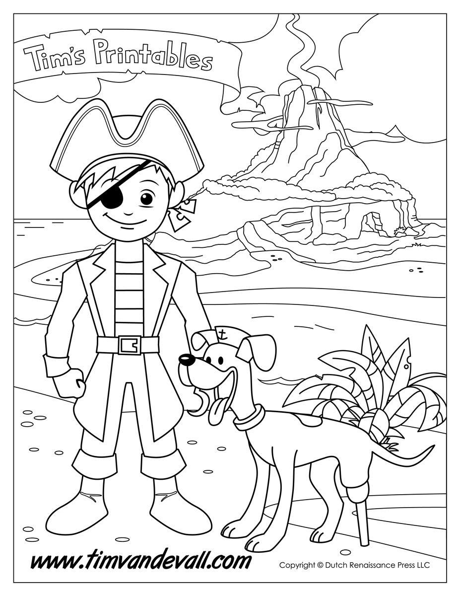 pirate coloring pages for preschool scurvy pirate coloring pages pirates pirate costume coloring preschool for pirate pages