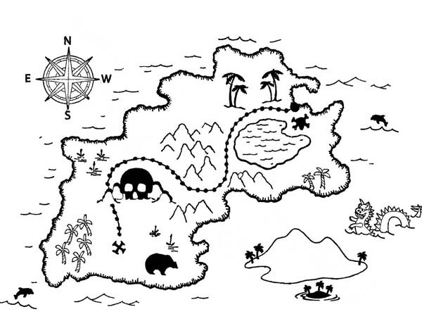 pirate map coloring page amazing treasure map coloring page kids play color pirate coloring map page