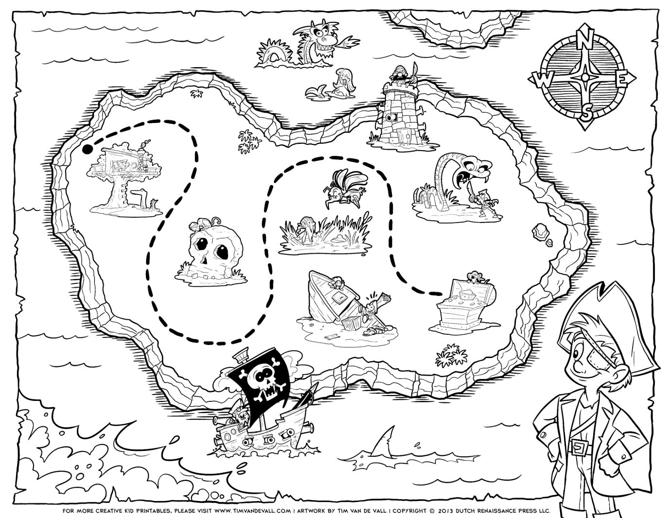 pirate map coloring page neighborhood map coloring page coloring home page map pirate coloring