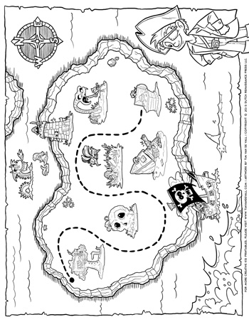 pirate map coloring page pirate treasure map tim39s printables map page coloring pirate