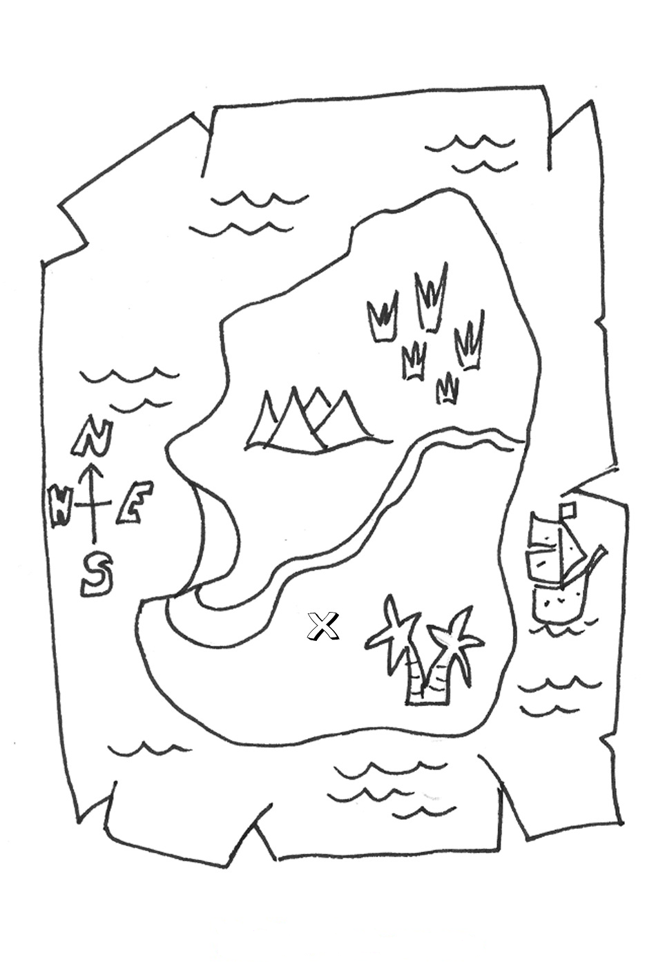 pirate map coloring page treasure map coloring pages to download and print for free coloring page pirate map