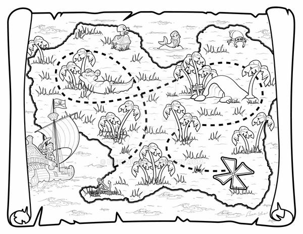 pirate map coloring page treasure map free coloring pages pirate page coloring map
