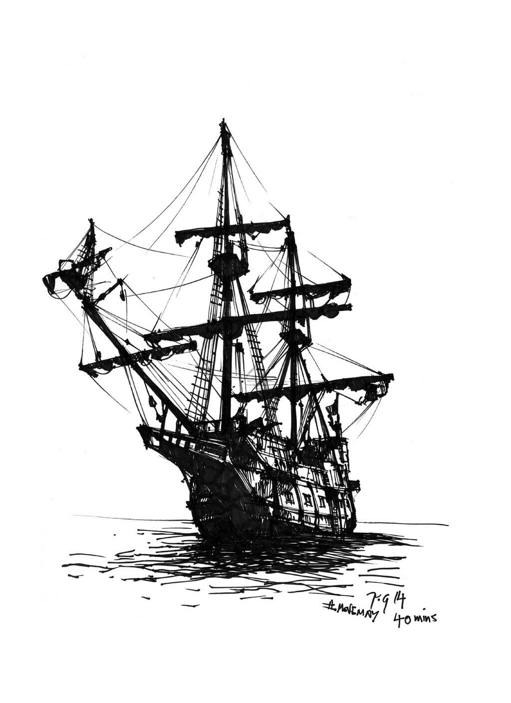 pirate ship sketch ship paintings search result at paintingvalleycom ship pirate sketch