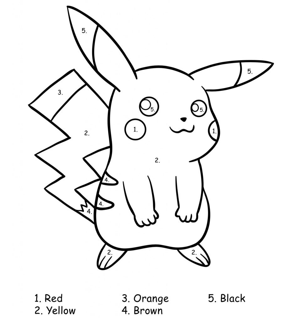 pokemon coloring by number pokémon color by number add subtract multiply divide coloring pokemon number by