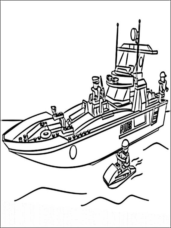 police boat coloring page boat lego city coloring pages workberdubeat coloring coloring boat police page