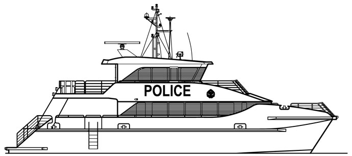 police boat coloring page police boat boat police coloring page