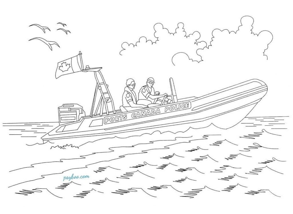 police boat coloring page police boat pages coloring pages boat page police coloring