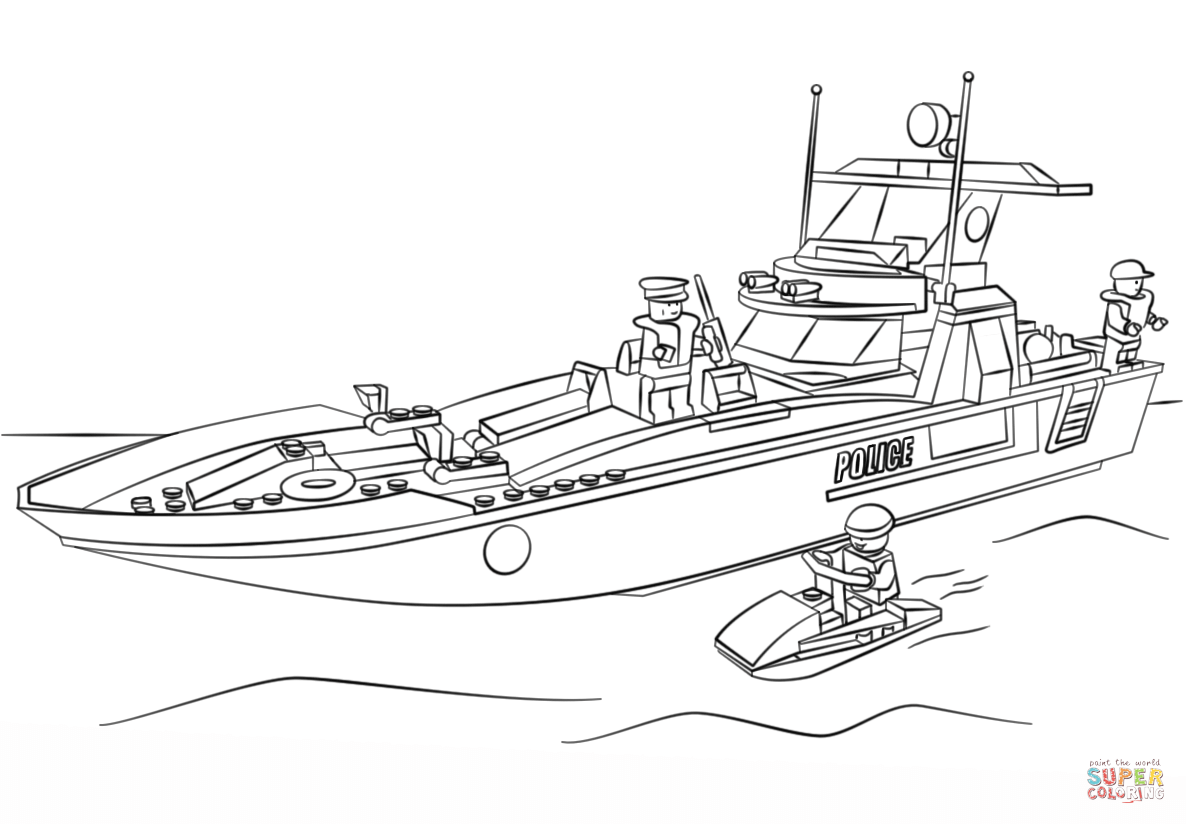 police boat coloring page police on boat coloring page free andy pandy coloring page boat police coloring