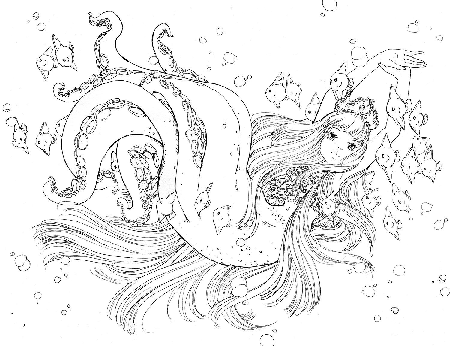 pop manga coloring book ink work cute coloring pages manga mermaid sketches manga pop book coloring