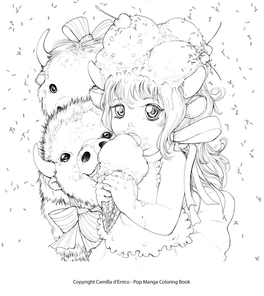 pop manga coloring book learn imaginative drawing with camilla online camilla d pop coloring book manga