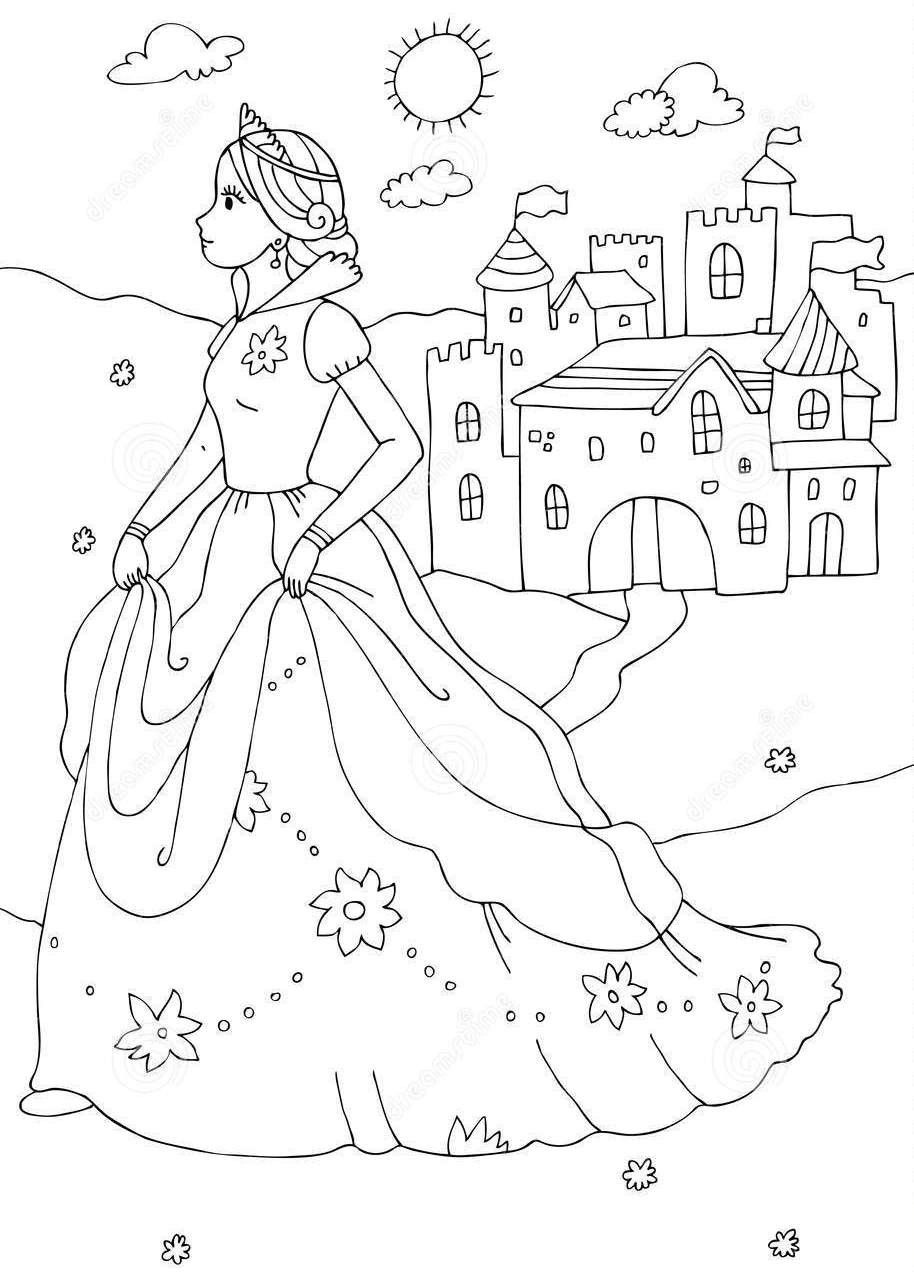 princess castle colouring pages disneyland castle drawing at getdrawings free download colouring princess castle pages