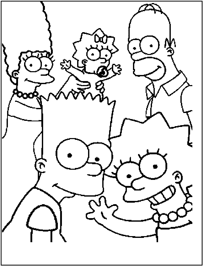 printable simpsons coloring pages free printable simpsons coloring pages for kids simpsons pages printable coloring