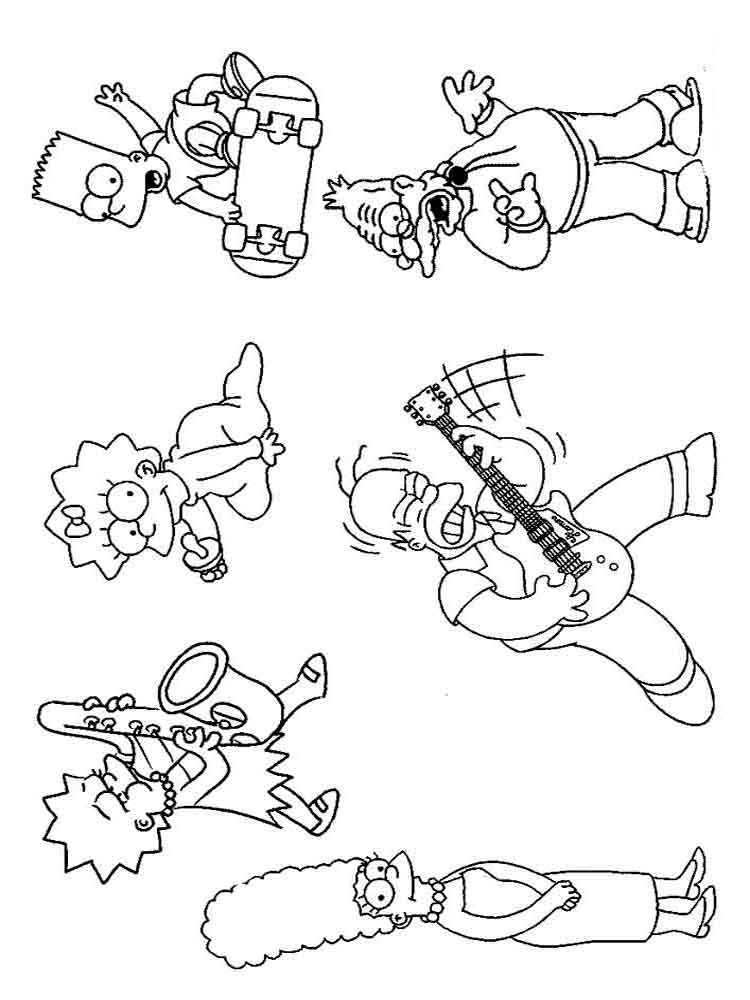 printable simpsons coloring pages printable simpsons coloring pages pages simpsons coloring printable