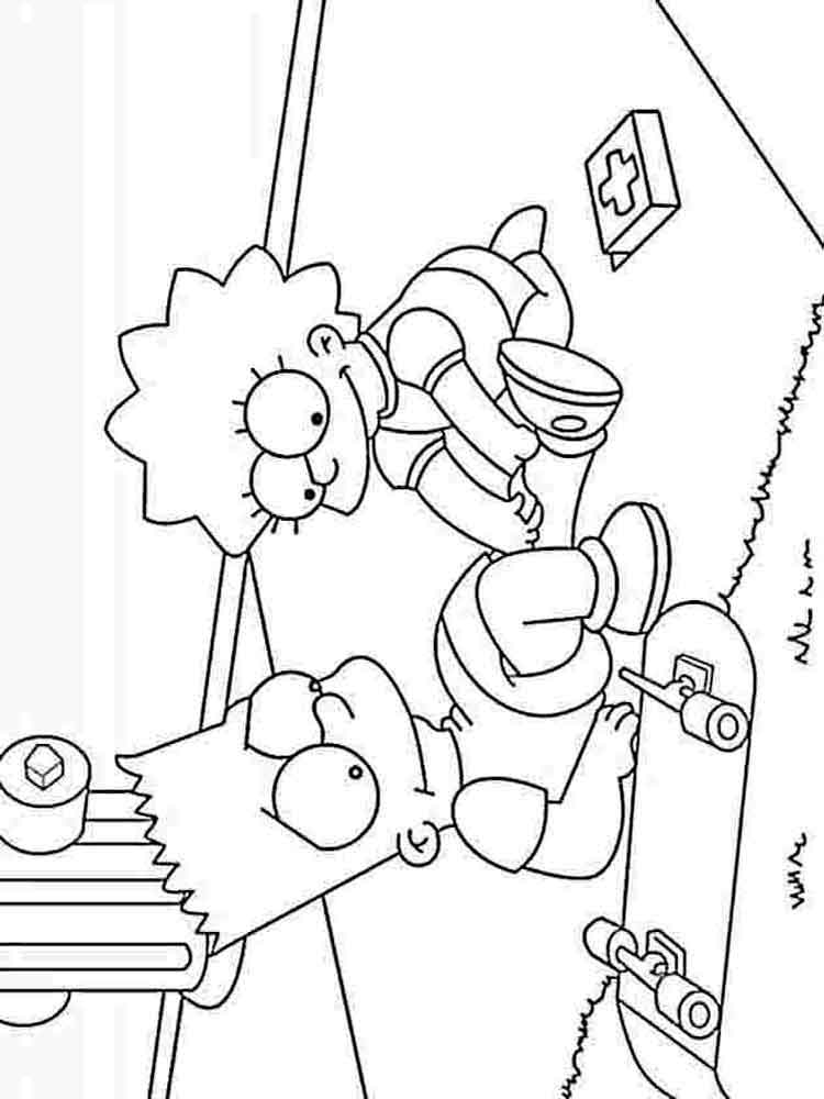 printable simpsons coloring pages the simpsons coloring pages download and print the printable simpsons pages coloring