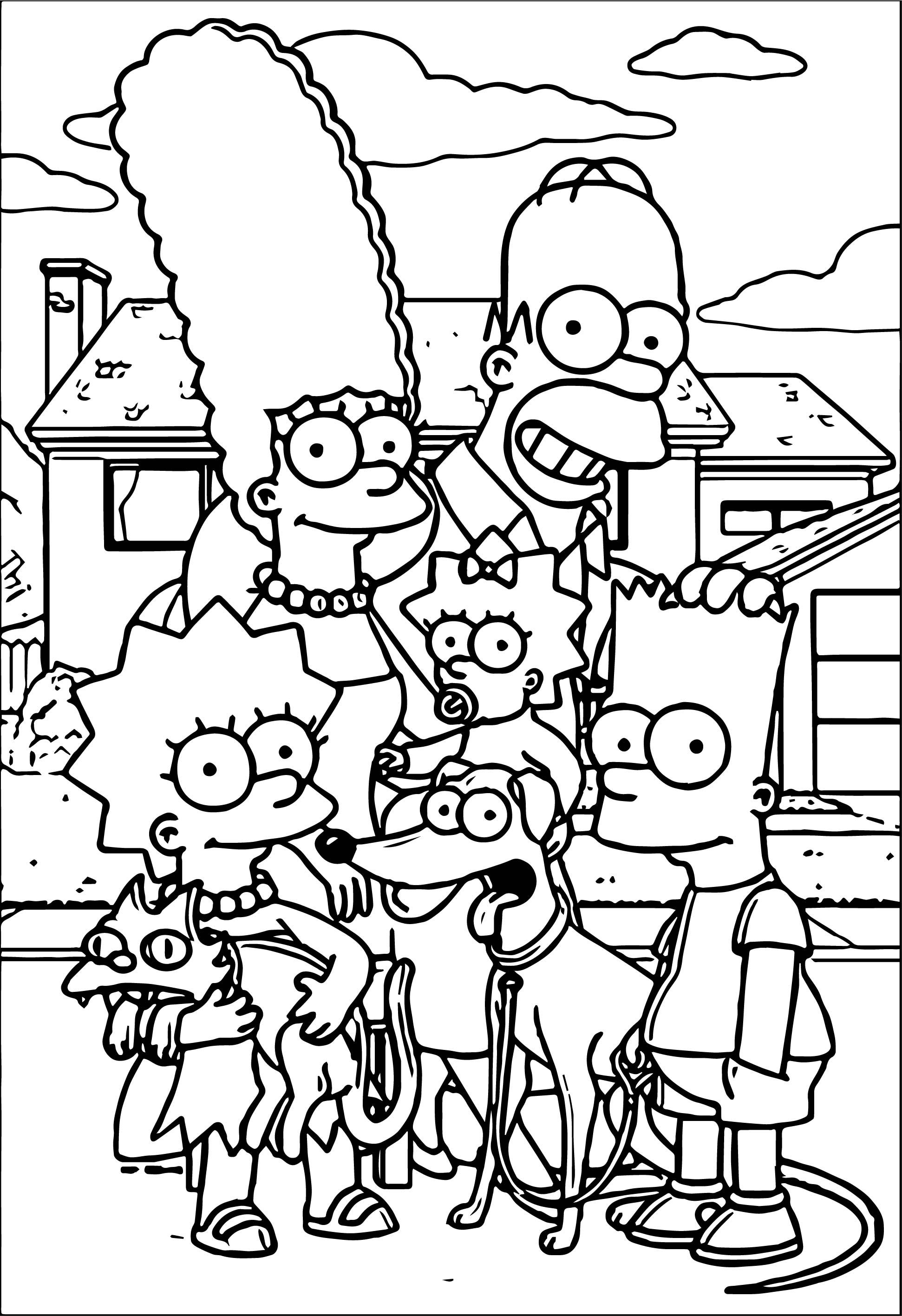 printable simpsons coloring pages the simpsons printable coloring page pages simpsons coloring printable