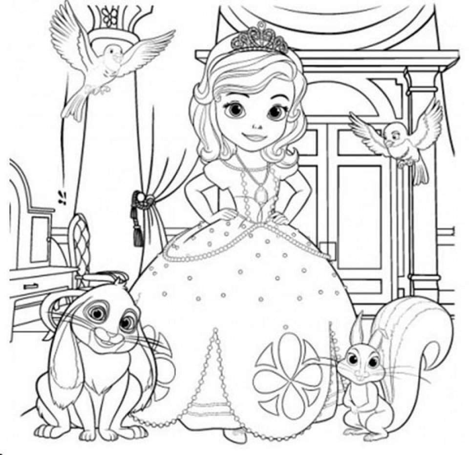 printable sofia the first coloring pages clover the rabbit from sofia the first coloring page the printable first coloring pages sofia