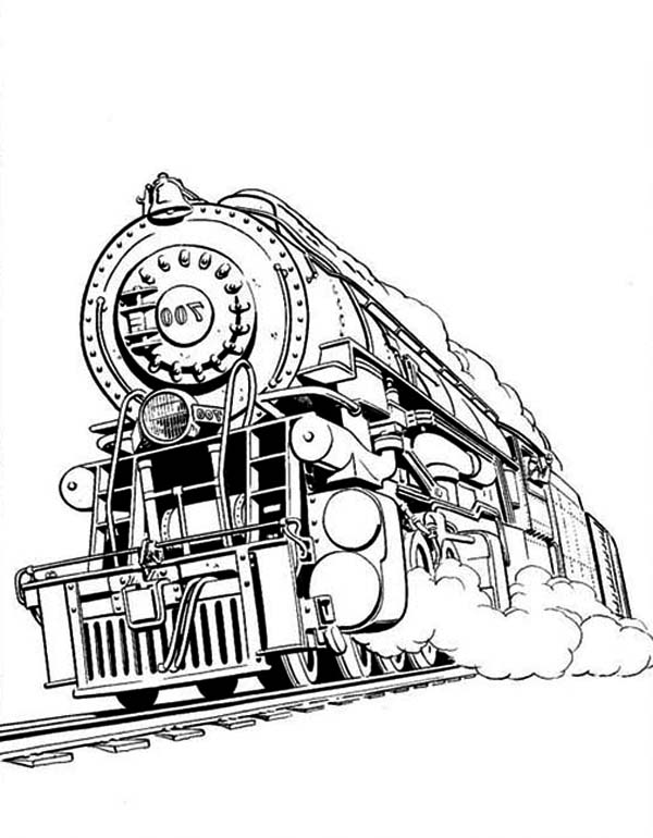 printable steam train coloring pages steam train coloring page with mountain scenery pages printable train steam coloring