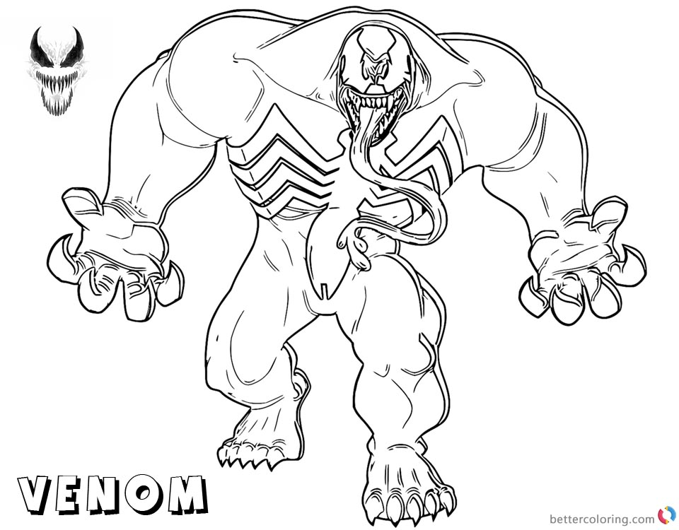 printable venom coloring pages coloring pages of venom coloring home venom pages coloring printable