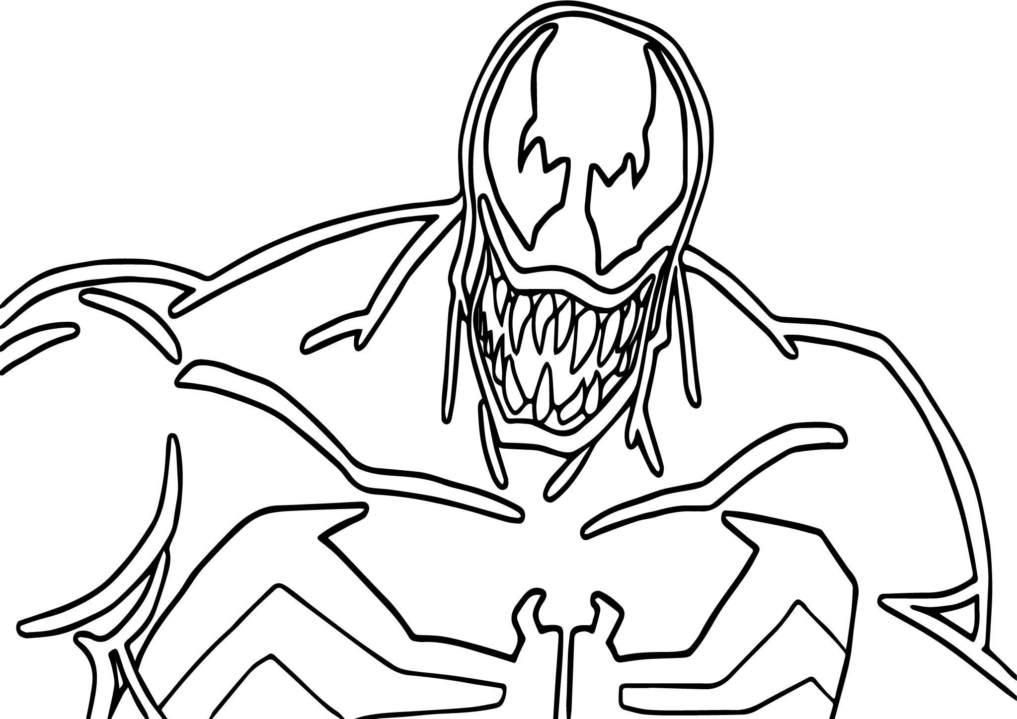 printable venom coloring pages venom coloring pages at getdrawings free download printable coloring venom pages