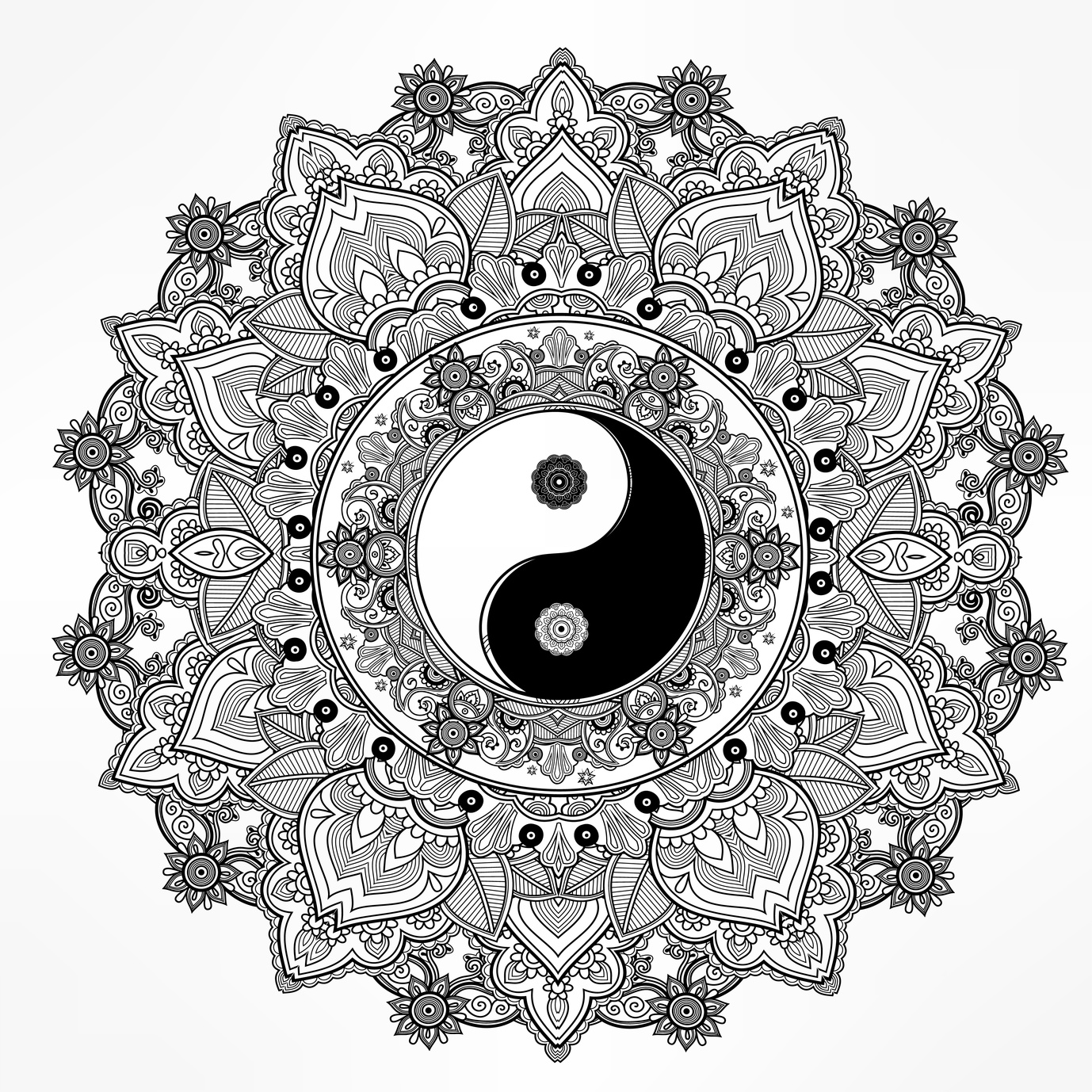 printable yin yang coloring pages cute yin yang coloring sheets coloring pages printable yin yang pages coloring