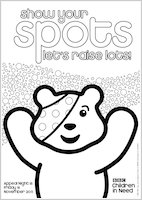 pudsey bear colouring bbc children in need 2011 colouring activity scholastic colouring pudsey bear