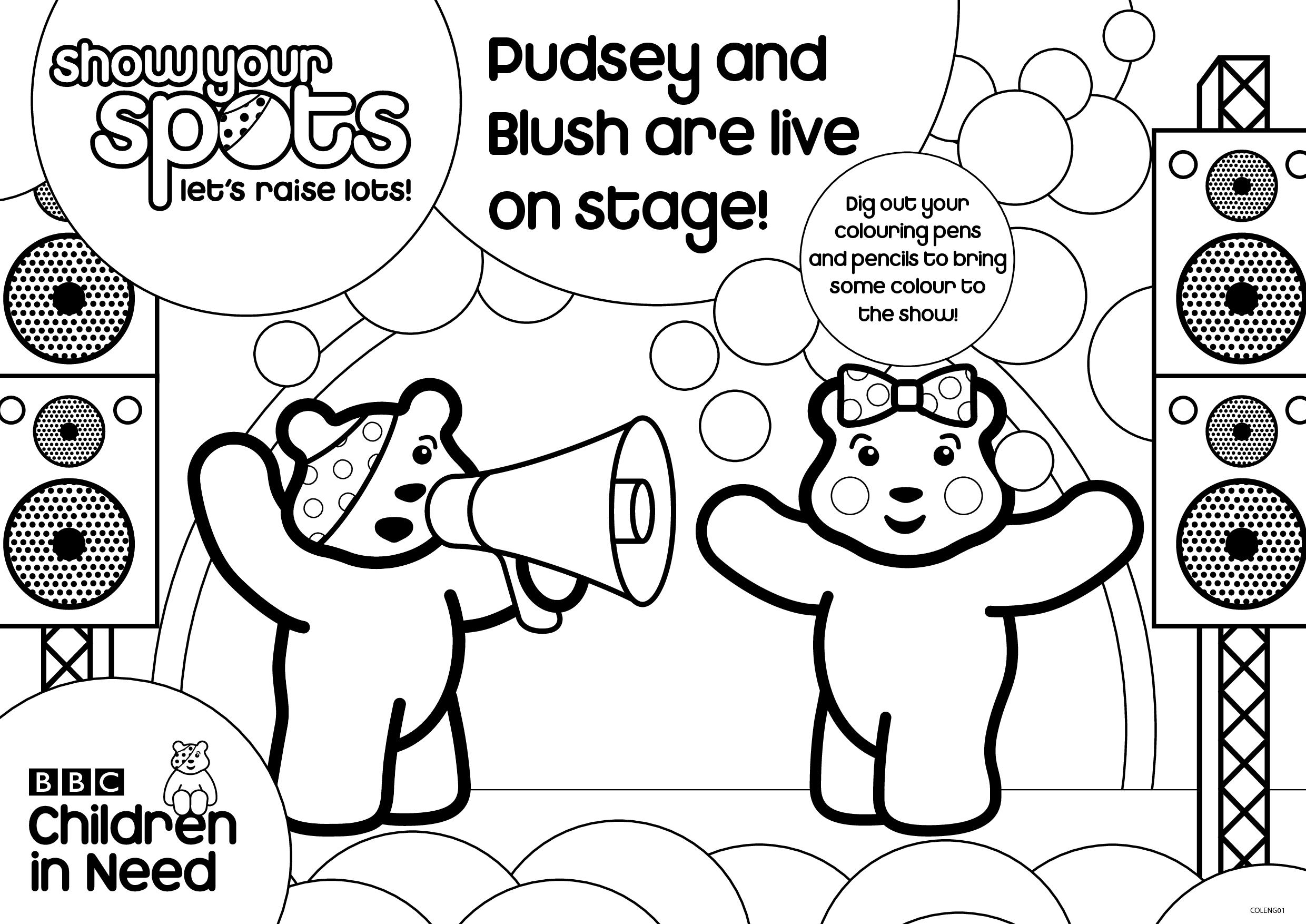 pudsey bear colouring children in need pudsey bear coloring pagetoby39s children bear colouring pudsey