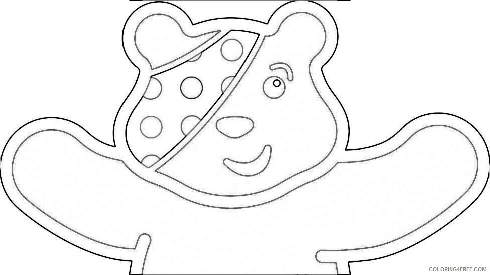 pudsey bear colouring pudsey bear gets a makeover from famous designers cbbc colouring bear pudsey