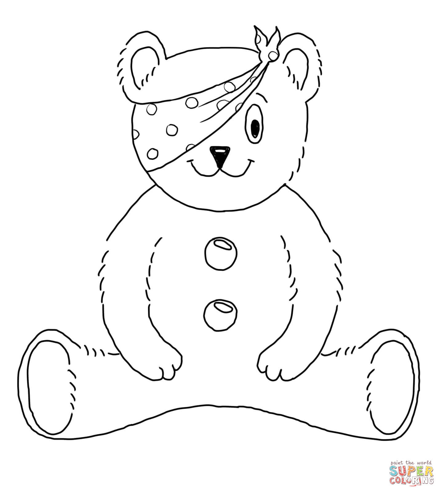 pudsey bear pictures to colour in dibujo de el oso pudsey para colorear dibujos para bear pudsey to pictures colour in