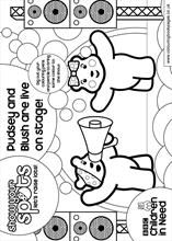 pudsey bear pictures to colour in pudsey and blush are live on stage pudsey children in to in colour pudsey bear pictures