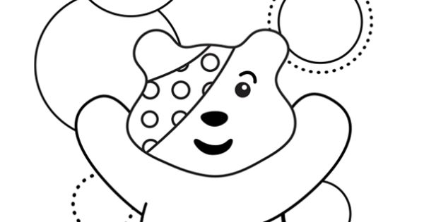 pudsey bear template printables children in need colouring in sheets coloring pages pudsey template printables bear