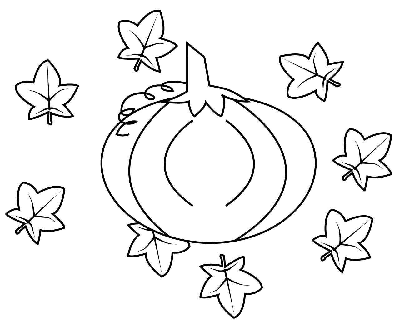 pumpkin and leaves coloring pages pumpkin leaves drawing free download on clipartmag and pumpkin coloring leaves pages