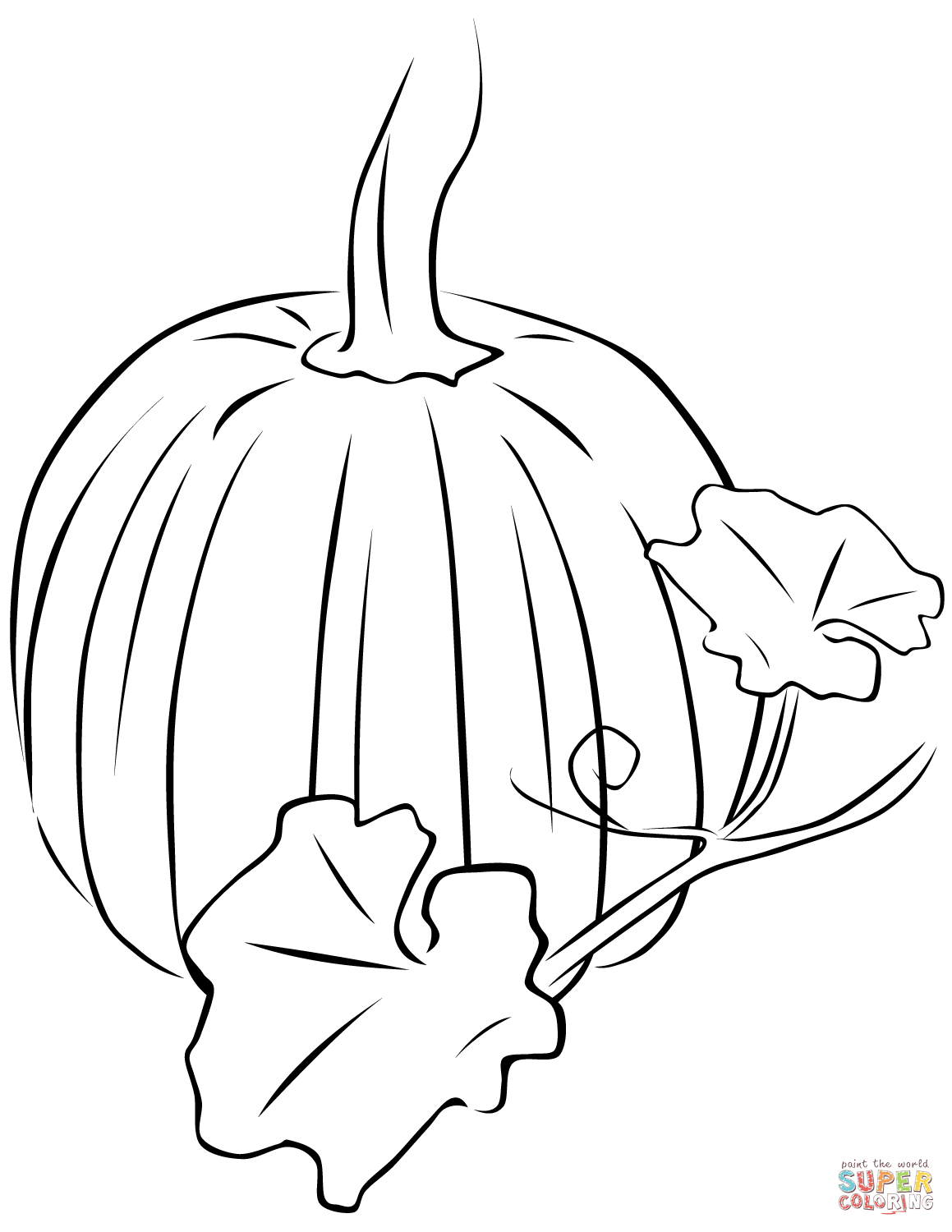 pumpkin and leaves coloring pages pumpkin with leaves coloring page free printable pumpkin leaves and pages coloring