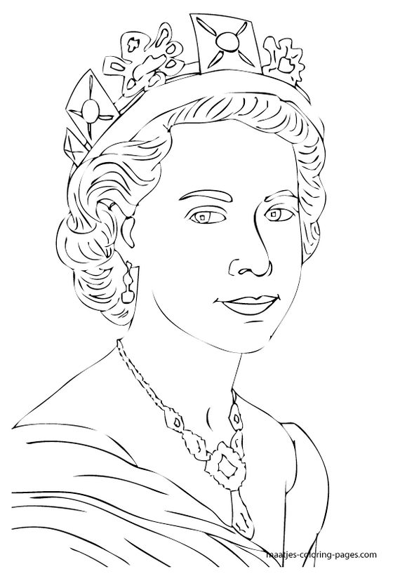queen coloring pictures royalfamilyukelizabethcoloringpages queen coloring pictures