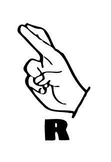 r in sign language sign language handsignsr classroom clipart sign in r language
