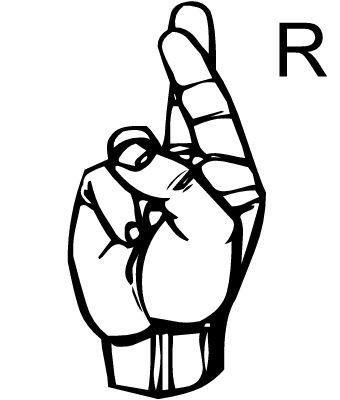 r in sign language sign language letter r google search sign r in language