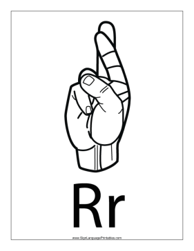 r in sign language the r letter sign language in r