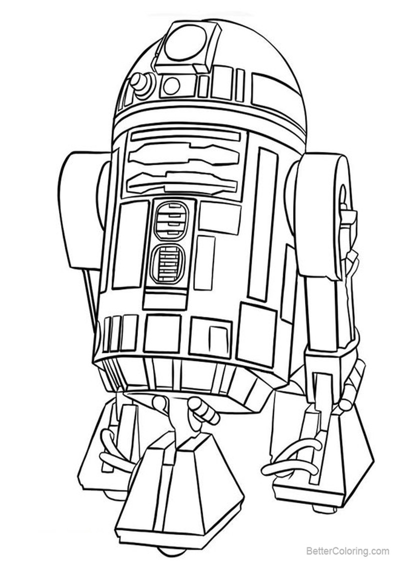 r2d2 coloring page r2 d2 robot in starwars coloring pages printable coloring r2d2 page