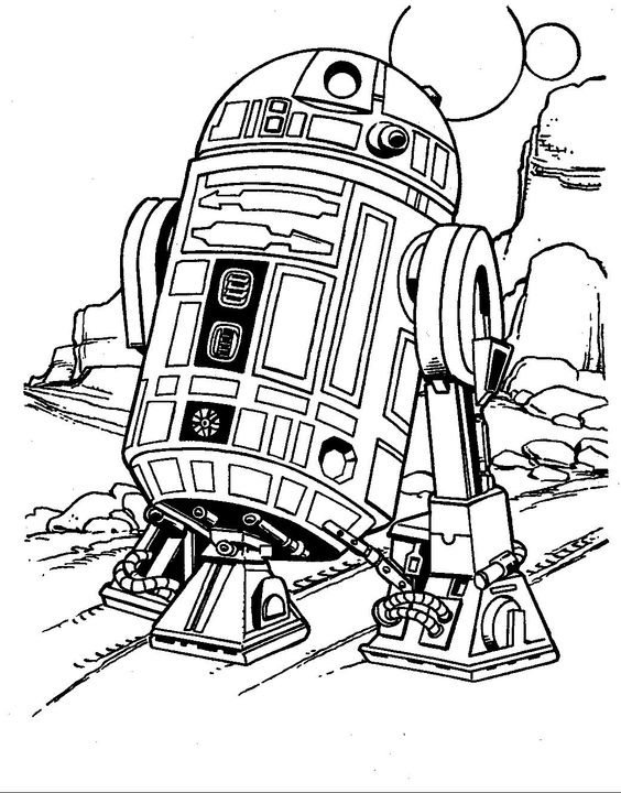 r2d2 coloring page r2d2 drawing at getdrawings free download page coloring r2d2