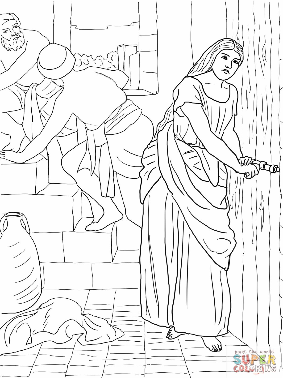 rahab coloring pages rahab and the spies coloring page coloring home rahab coloring pages