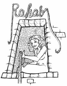 rahab coloring pages rahab coloring page sundayschoolist rahab pages coloring