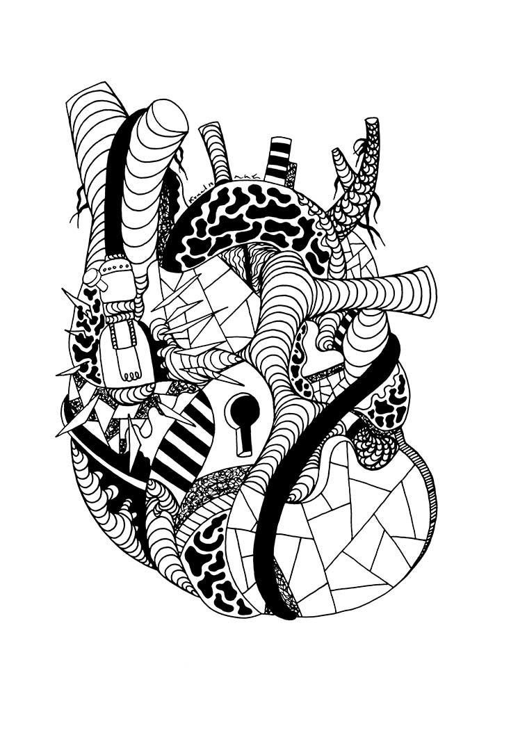 real heart coloring pages 24 of the most creative free adult coloring pages kenal pages heart real coloring