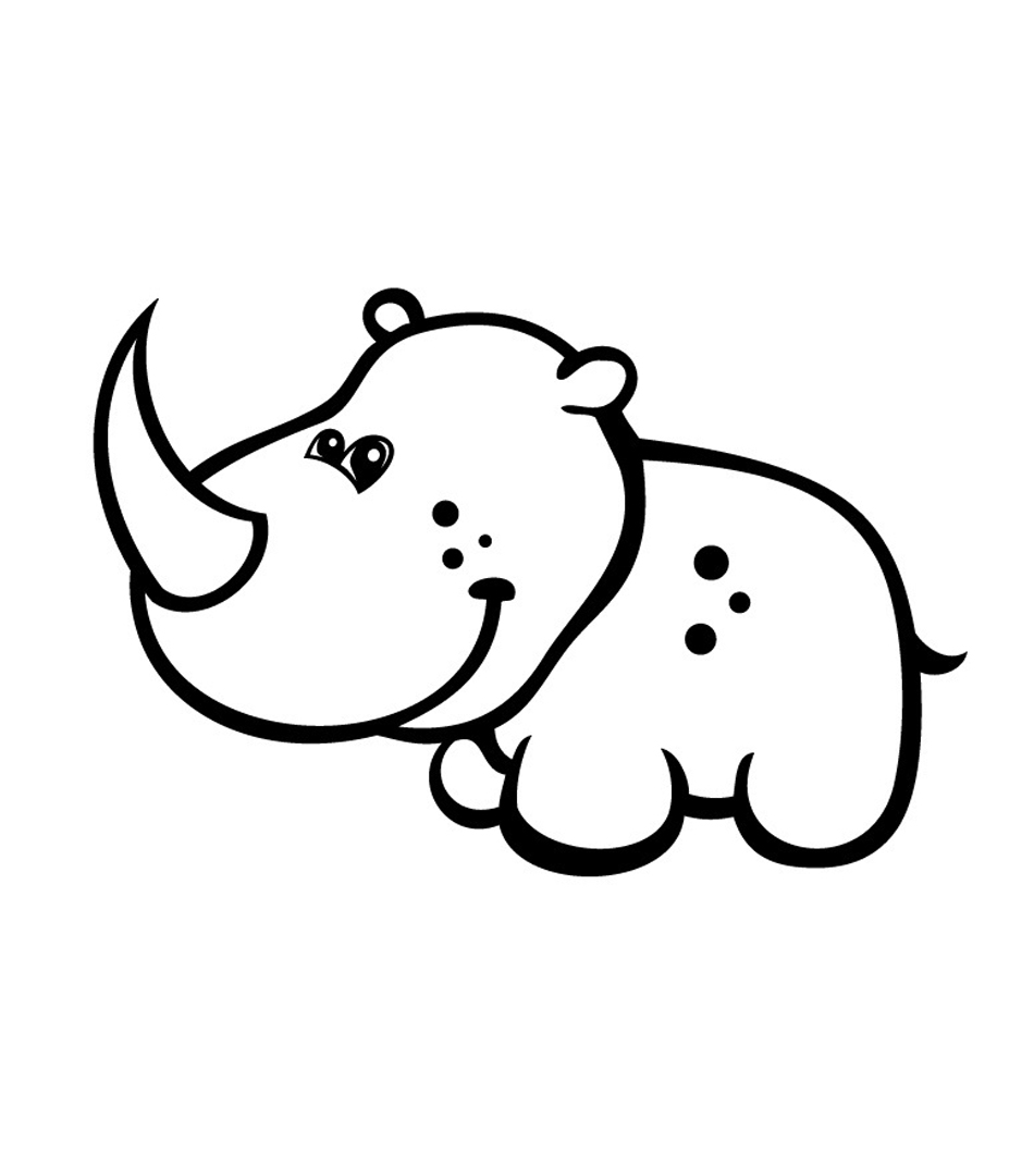 rhino coloring pages cute baby rhino coloring page free printable coloring pages coloring rhino pages