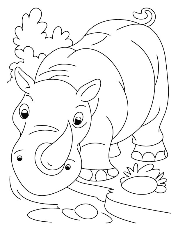 rhino coloring pages free printable rhinoceros coloring pages for kids rhino coloring pages