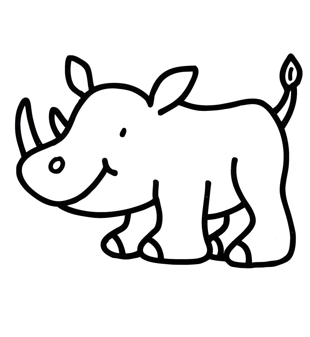 rhino coloring pages free rhino coloring pages coloring rhino pages
